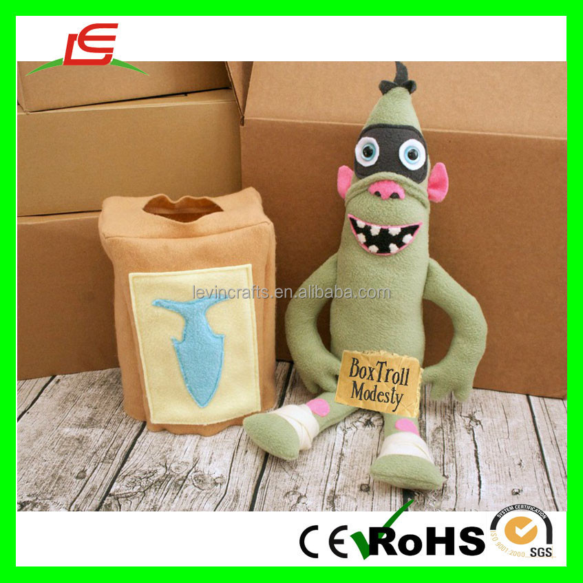 Soft Carton Stuffed Doll Box Troll Plush