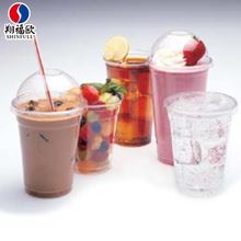 Xiang Fu Ou Eco-friendly custom pet/pp plastic smoothie cups with lids for wholesale smoothies manufacturing cup