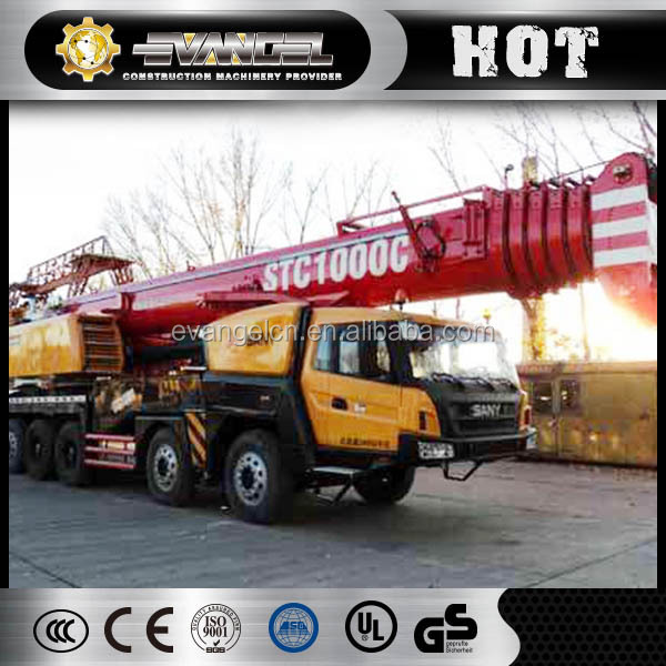 China Used mobile truck crane for sale Sany 100ton truck crane stc1000c
