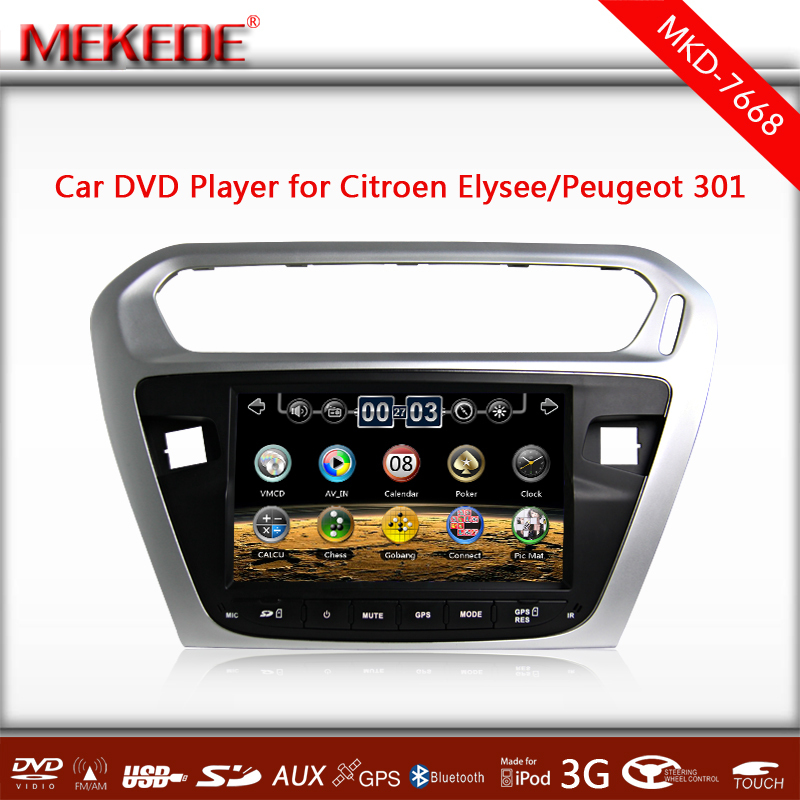Special CAR DVD PLAYER for Citroen Elysee / Peugeot 301 with full functions