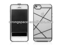 transparent flip case for iphone 5 with TPU and PC from China supplier