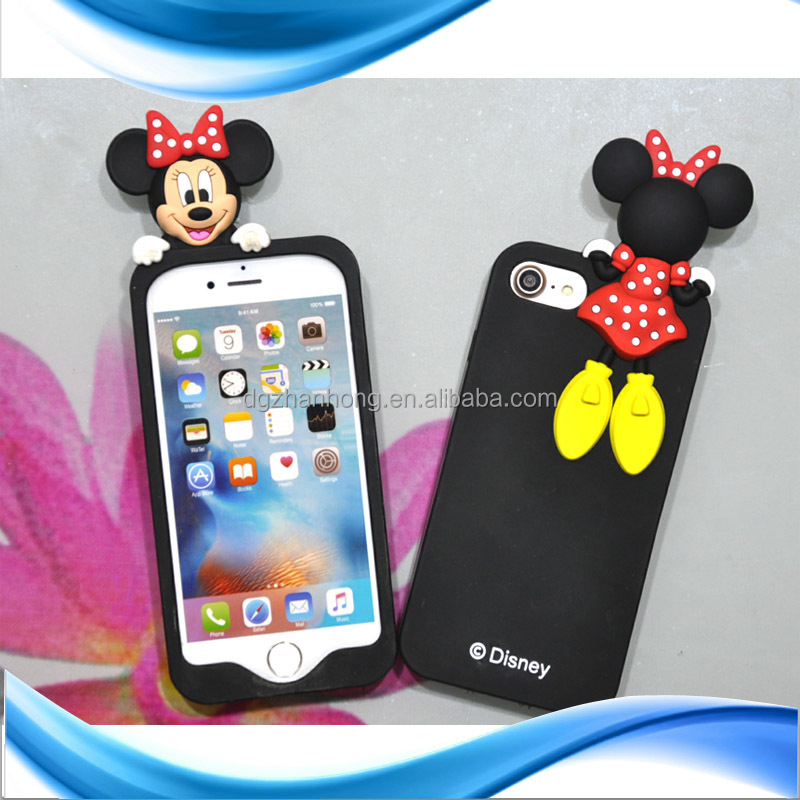 Hot sale And Creative cute 3D animal shape mobile phone showkoo leather case