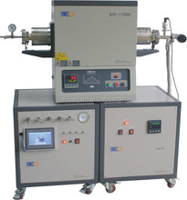 High-temperature CVD Diamond 1700C Hydrogen Tube Furnace with Low Vacuum System