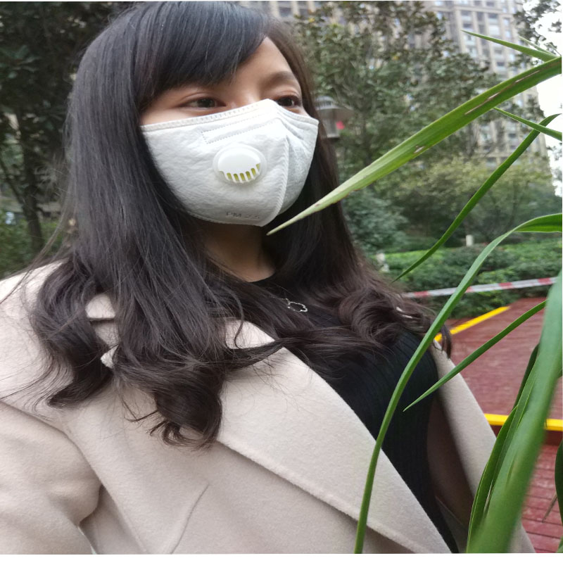 OEM design manufacturer PM2.5 Anti Pollution Face mask with breathing valve