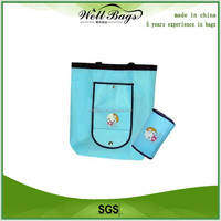 Reusable foldable shopping bags, recycle folding bags, shopping bag