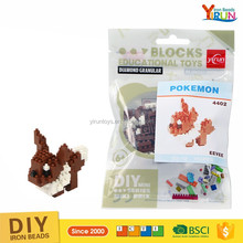 plastic enlighten toy Pokemon nano brick building block set city blocks toys