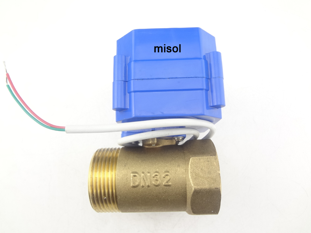 "Motorized valve brass G1 1/4"" DN32 (reduce port) 2 way 12v electric valve MV-2-32-12V-R01-1"