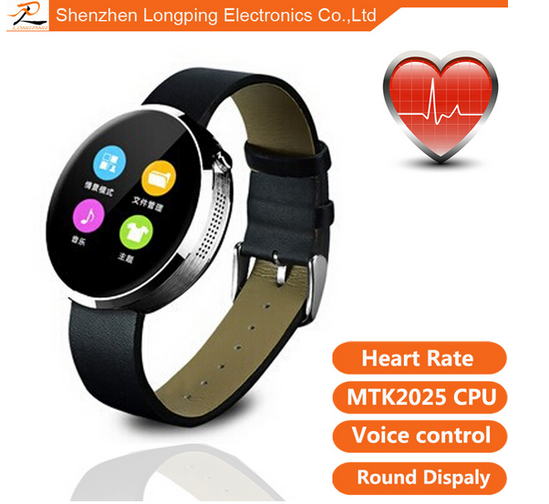 2015 New Smart Bluetooth Watch M360 with Anti-lost Alarm/Music Player/Pedometer/Dial plates for Android IOS Mobile Phone