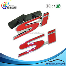 SI Front Grill Kidney Alloy Red Logo Emblem Sticker Badge Fits For Honda Civic