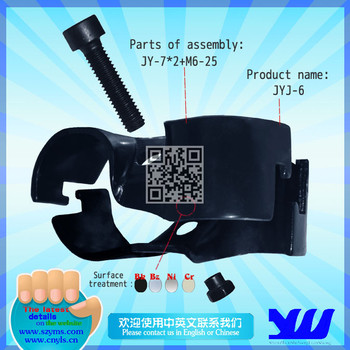 Stereo crossing black electrophoresis coated pipe joint for pipe rack JYJ-6