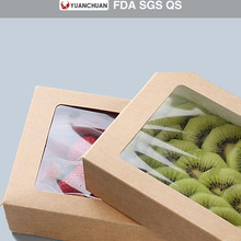 Thicken coated paper salad box with custom printed