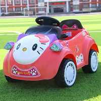 HelloKitty Children Electric Toy Car Battery powered Kids Car