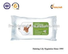baby skin-care wet wipe with aloe vera and VE