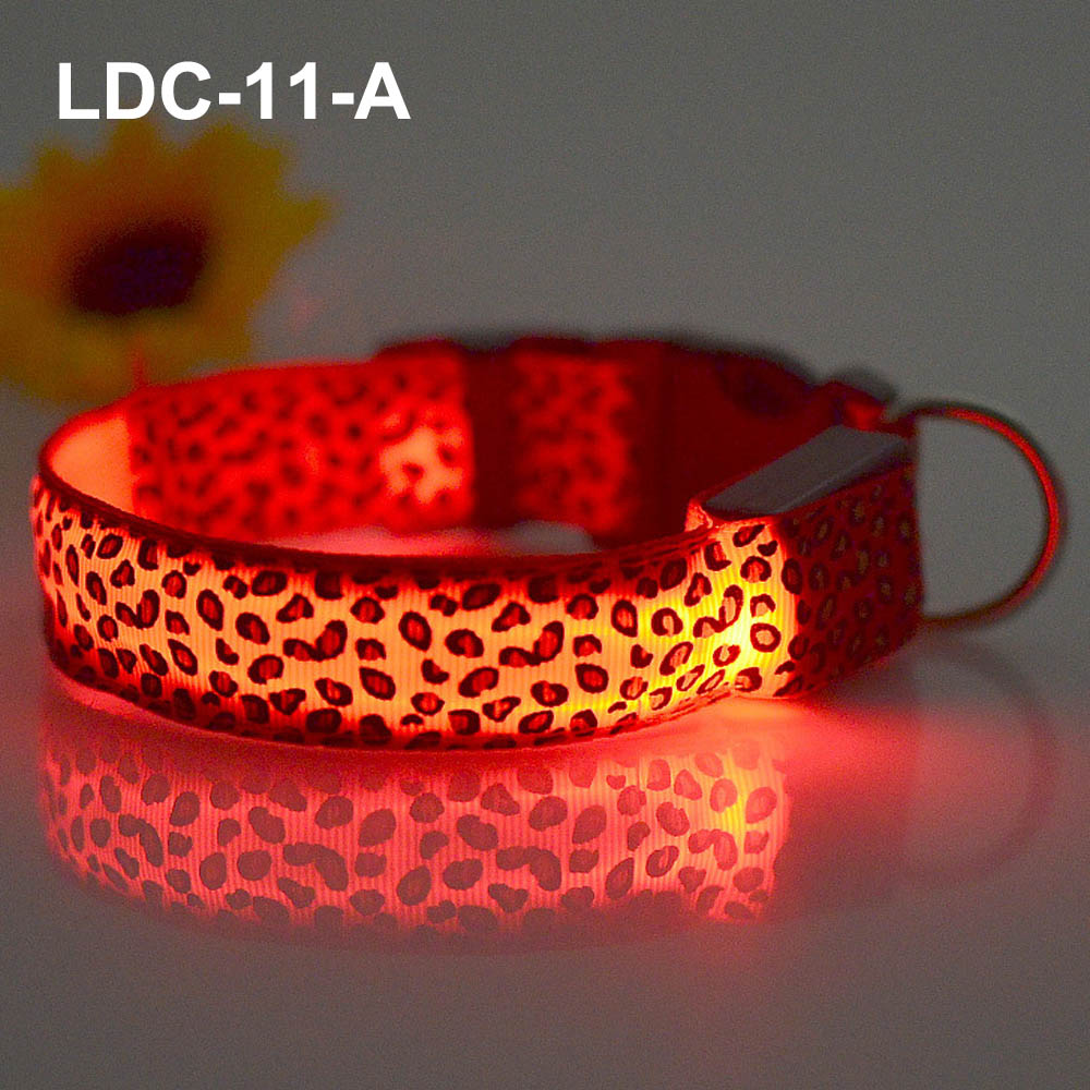 LED Dog Collar Electric Nylon Dog Collar Wholesale Pet Safety Collars