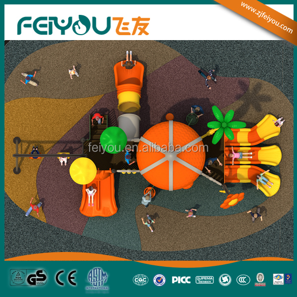 2014 Feiyou Tropical Rain Series China Hot sale Cheap Multiple Outdoor/School/Park Playground with Swing Set
