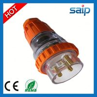 AS/NZS IP66 electric plug with power indicator