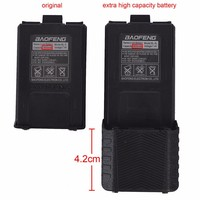 Rechargeable battery 3800 mAh high capacity for Baofeng UV-5R two way radio