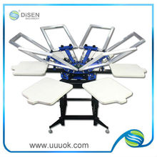 Six color screen printing machine for clothes