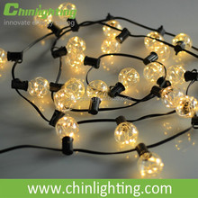 3.7V low voltage holiday warm white color christmas led copper wire string lights