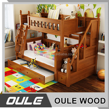 Cute Wooden Kids Bunk Bed Bunk Beds With Ladder Cabinet