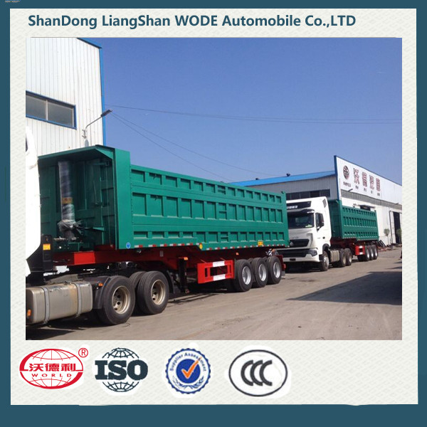 Factory Supply Rear Dump Semi Trailer For Sale