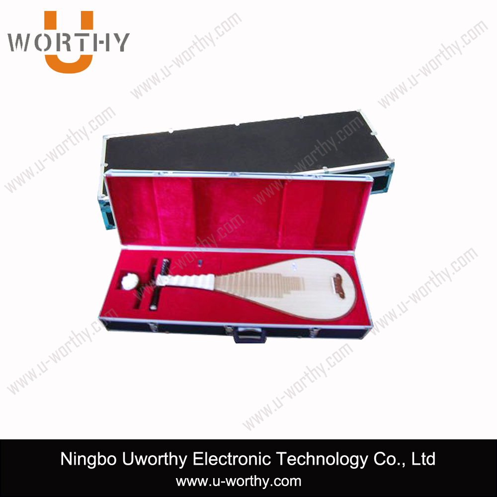 custom high quality metal packing box silver aluminum carrying case for musical instrument lute