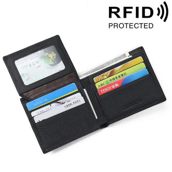 Popular RFID product factory wholesale large capacity cell phone men's zipper clutch wallet for business men