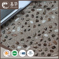 Anti-slip PVC Floor Tile,waterstone design vinyl tile,high gloss floor tile