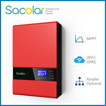 5KW off grid inverter with mppt solar charge controller and wifi/GPRS monitoring system