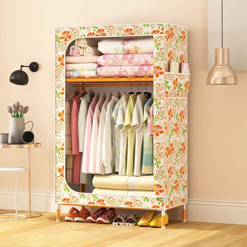 Simple assemble small size bedroom wardrobe designs