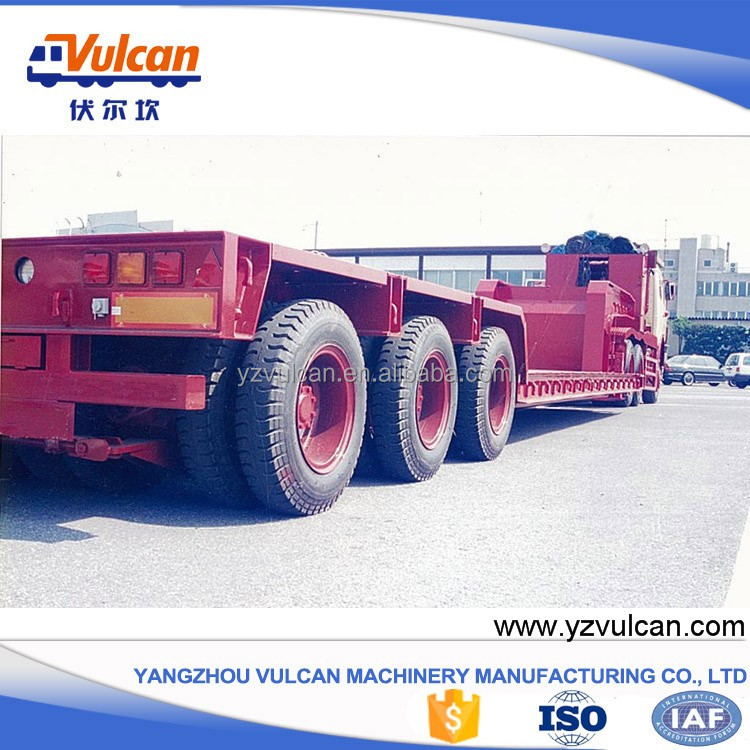 Tri-axle shipping container low bed semi trailer with ISO9001