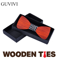 Creative wedding solid wood bow tie 3D pure hand made butterfly wood bow tie