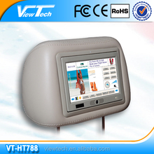 Taxi Advertising With Digital Screen/Headrest Taxi Advertising Tablet/Body Sensor Headrest Advertising Player