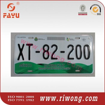 Good Quality Mexico Car Plate Number