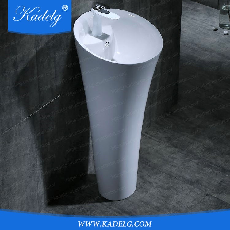 European Design Bathroom Pedestal Art Basin