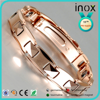 Inox latest style 10mm bracelet tint silver wholesale fashion spikes tungsten jewelry