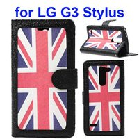 Embossed Style Wallet Leather Flip Case for LG G3 Stylus with Card