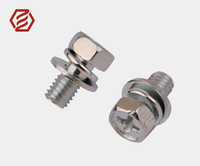 Steel Zine Plated GB9074 Hexagon Head Bolt With Spring and Washers