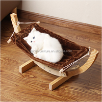 wooden cat hammock pet cat bed pet product