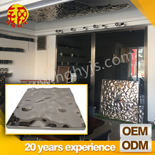 Decorative metal sheet bedroom pop ceiling board fall suspended ceiling mirror tiles design