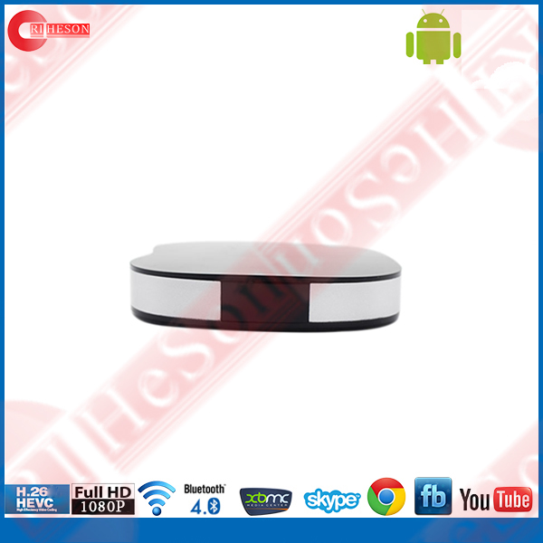 Plastic case android 4.4 digital tv converter box RK3128 1gb ram 8gb rom smart android set top tv box