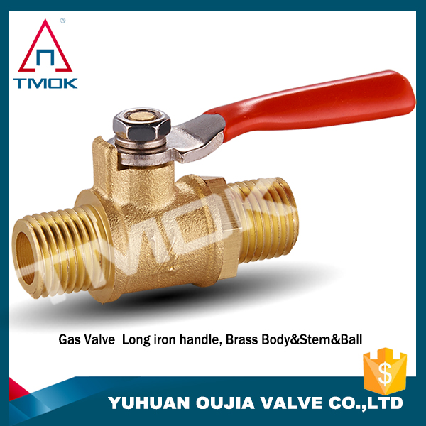 Hot sale Gas Emergency Shut off Brass Gas Ball Valve with Female Thread Iron Handle