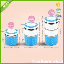 Cute Single Layer 630ML Stainless Steel Insulation Lunch Bento Box Food Carrier Container