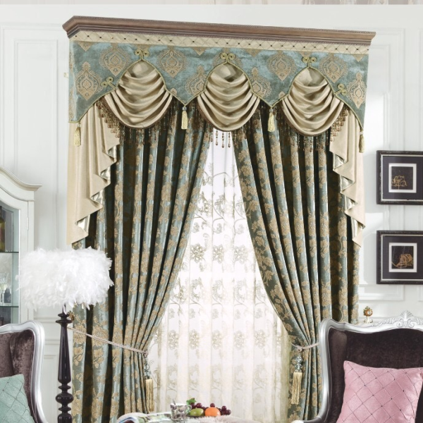 Chinese style swags ready made curtain designs