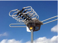 HDTV Remote Outdoor Amplified Rotor Antenna 360 UHF/VHF/FM HD TV 150 Miles