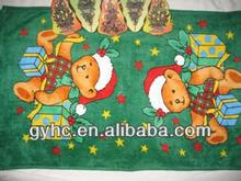Christmas promotional compressed kids beach towel 50*100cm