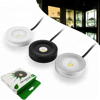 110v dimmable ceiling puck light for cabinet lighting