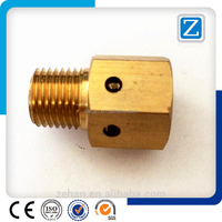 Hexagon Brass Fitting With Male thread and drilled hole