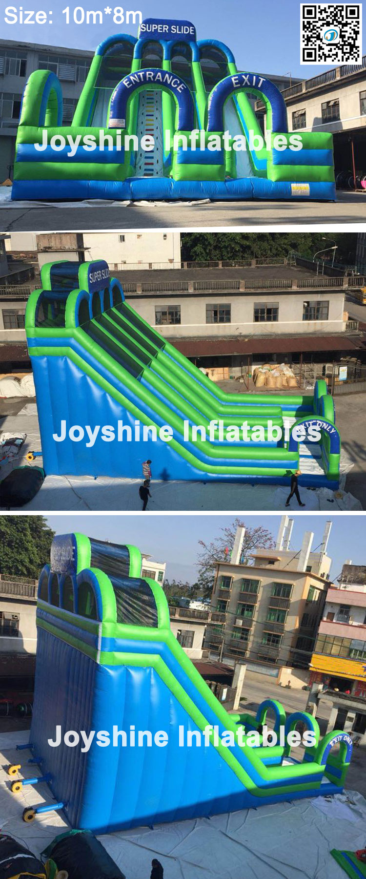4 Lanes Giant Adults Kids Inflatable Sliding Bouncer Stair Water Slide Castle Inflatable Super Slide PVC