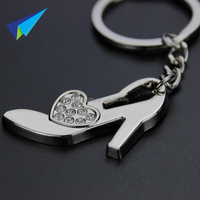 Fashional design zinc alloy 3d shoe shape keychains with custom logo